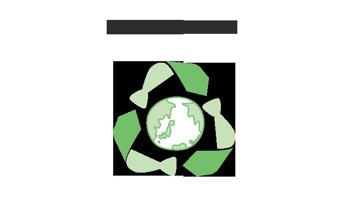 人と社会にやさしく たまきでは地球環境保全と持続可能な社会の実現に向けて、環境に配慮した製品の生産に努めています